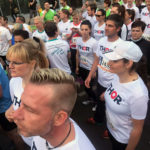 Knapp 20 Mitarbeiter von THOR Industriemontagen liefen für ihre Firma - THOR - 4,2 Kilometer durch die Erfurter Altstadt, beim RUN 2017.