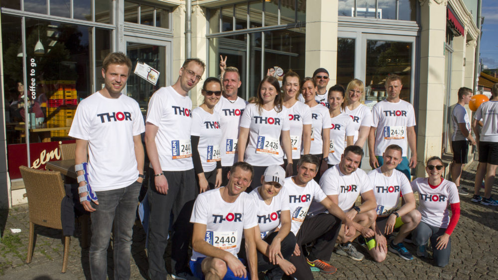 Fachkräfte von THOR Industriemontagen nahmen beim RUN Unternehmenslauf 2017 in Erfurt teil.