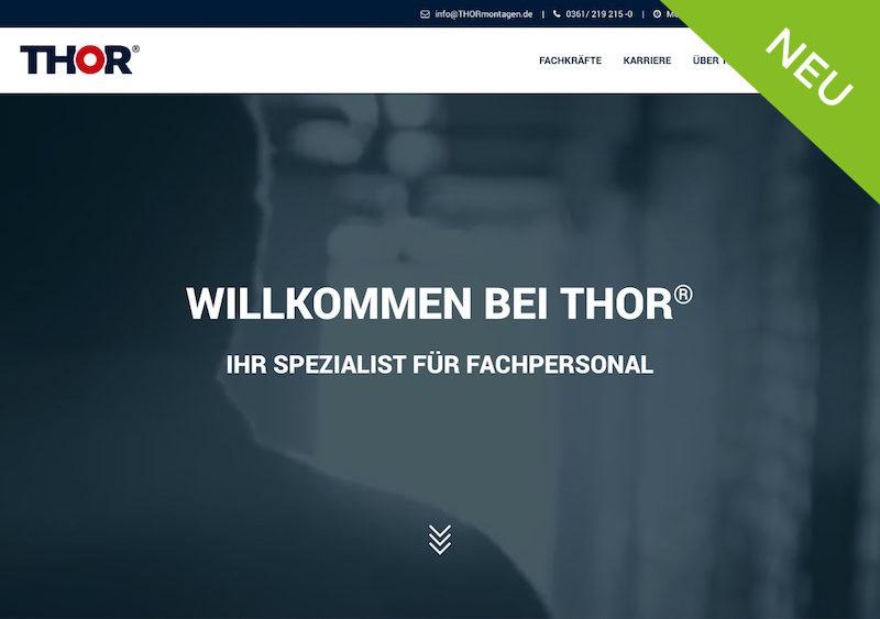 Relaunch der THOR-Website. THOR Industriemontagen aktualisiert Internetseite