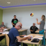 Polnische Monteure von THOR nehmen am Deutschkurs teil.